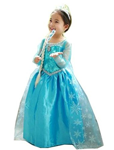 Fashion Elsa Baby Childs Princess Party Dress Up Costume (5-6 years)