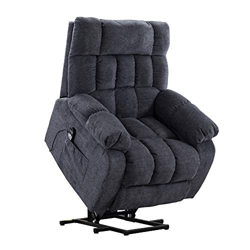 Merax Electric Power Lift Recliner Chair Lazy Boy Sofa for Elderly, with Massage and Heat, Office or Living Room, Blue