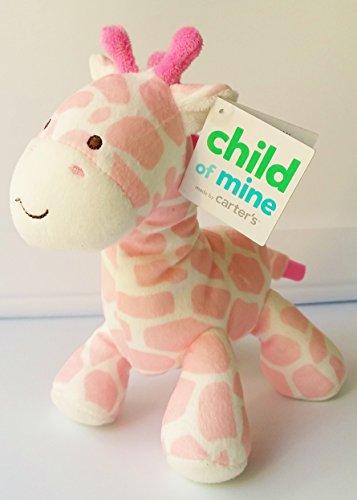 Carter's Child of Mine Pink/White Giraffe Rattle Plush Toy