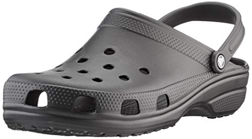 Crocs unisex adult Men's and Women's Classic | Water Shoes Comfortable Slip on Shoes Clog, Black, 12 Women 10 Men US