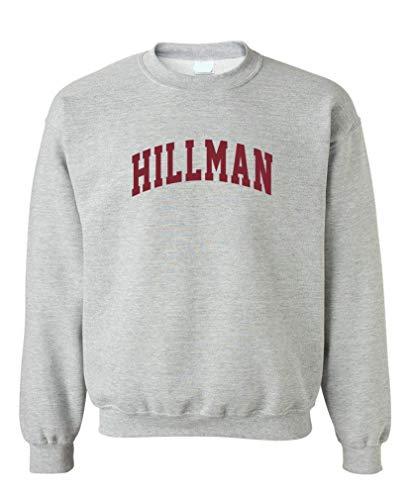 The Goozler Hillman Lettering V2 - Crew Neck Sweatshirt, Sport Gray, XL