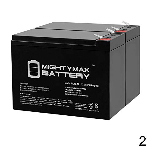 Mighty Max Battery 12V 10AH SLA Replacement Battery for Neuton Mowers E0683-310W - 2 Pack Brand Product