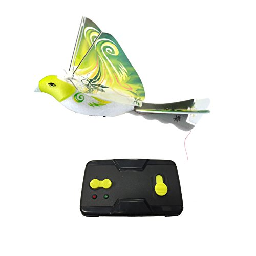 MukikiM eBird Green Parrot - 2016 Creative Child Preferred Choice Award Winning Flying RC Toy - Remote Control Bionic Bird (Newest 2.4GHz Version Featuring USB Charging)