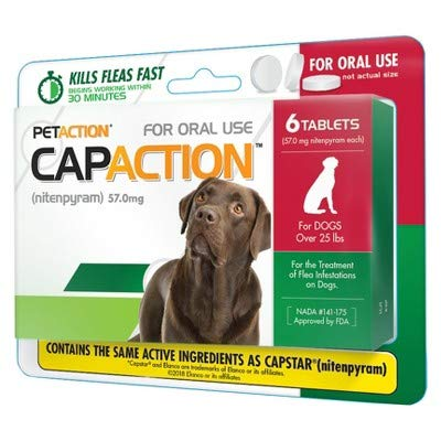 CapAction Oral Flea Treatment Large Dog 6ct