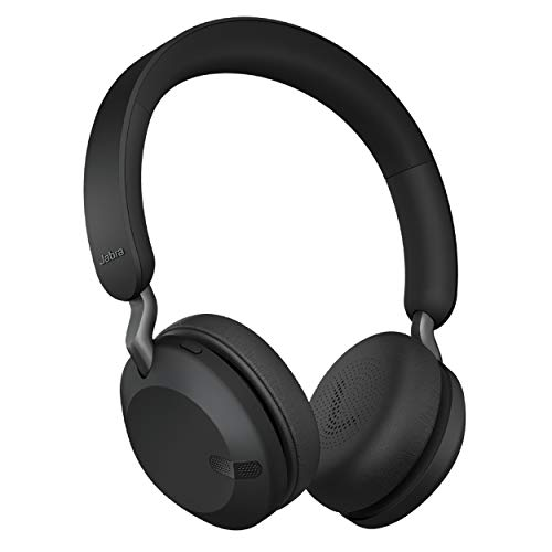 Jabra Elite 45h, Titanium Black – On-Ear Wireless Headphones with Up to 50 Hours of Battery Life, Superior Sound with Advanced 40mm Speakers – Compact, Foldable & Lightweight Design