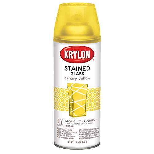 Krylon K09035000 Stained Glass Aerosol Paint, 11.5 oz, Canary Yellow