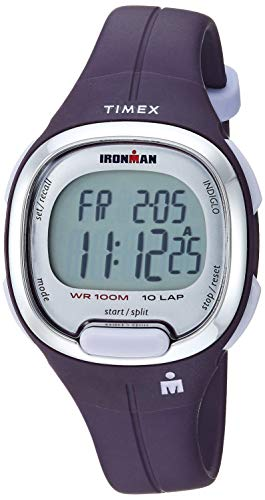 Timex Women's TW5M19700 Ironman Transit Mid-Size Purple/Silver-Tone Resin Strap Watch