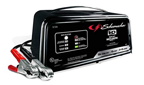 Schumacher Battery Charger, Engine Starter, Boost Maintainer, and Auto Desulfator - 50 Amp/10 Amp, 12V - For Cars, Trucks, SUVs, and RVs