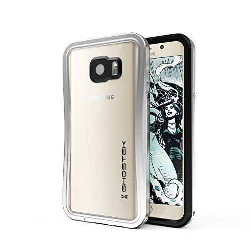 Ghostek Note 5 Waterproof Case, Atomic 2.0 Series for Samsung Galaxy Note 5, Full-Body Underwater/Waterproof/Shockproof/Dirt-Proof/Snow-Proof/Slim Premium Case/Aluminum Frame – Silver