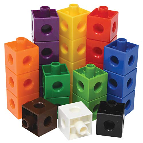 Edx Education Linking Cubes - Set of 100 - 0.8 inch Size - in Home Learning Toy for Early Math - Connecting Blocks - Preschoolers Aged 3+ and Elementary Aged Kids