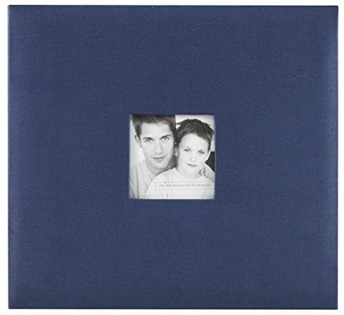MCS MBI 13.5x12.5 Inch Fashion Fabric Scrapbook Album with 12x12 Inch Pages with Photo Opening, Blue (802511)