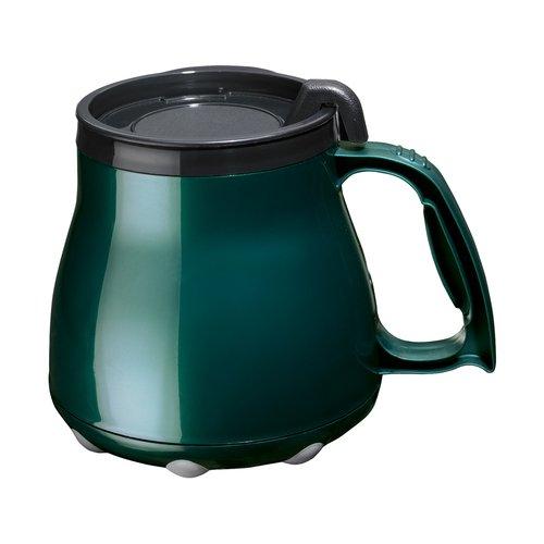 Low Rider No Tip Desk Mug, Coffee Mug, Made in America (Green)