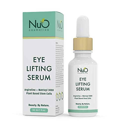 NuOrganic Age Defying Eye Lifting Serum with Hyaluronic Acid | Plant Based Stem Cells | Active Peptides | Protects & Revives Under Eye Area & Gives it a Youthful Look  30ML