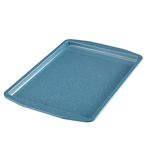 Paula Deen Speckle Nonstick Bakeware, Nonstick Cookie Sheet / Baking Sheet - 11 Inch x 17 Inch, Gulf Blue Speckle