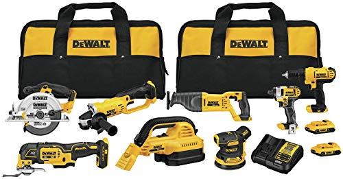 DEWALT 20V MAX Cordless Drill Combo Kit , 8-Tool (DCK883D2)