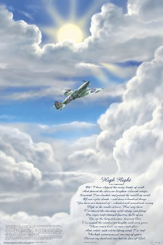 Feenixx Publishing High Flight Poem Poster