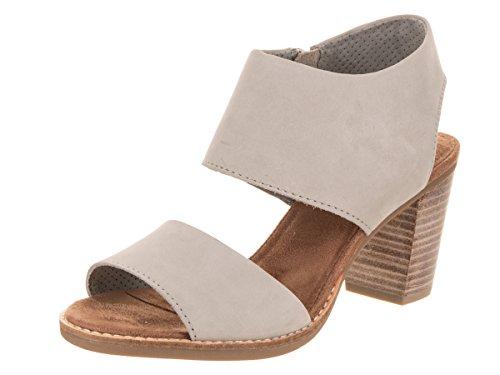 TOMS Majorca Cutout Sandal Drizzle Grey Leather 5