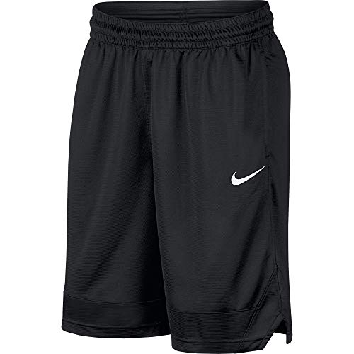 Nike Dri-FIT Icon, Men's basketball shorts, Athletic shorts with side pockets, Black/Black/White, L