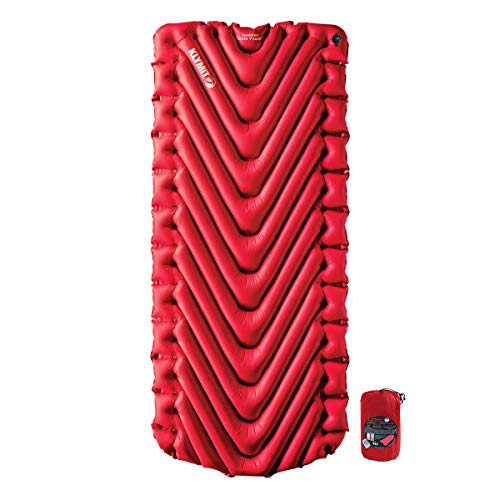 KLYMIT INSULATED STATIC V LUXE Sleeping Pad, Extra Wide (30 inches), Maximum Comfort, Best Camping Gear for Car Camping, Travel, and Backpacking