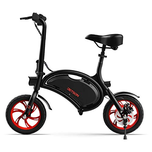 Jetson Bolt Folding Electric Bike, Black - with LCD Display, Lightweight & Portable with Carrying Handle, Travel Up to 15 Miles, Max Speed Up to 15.5 MPH