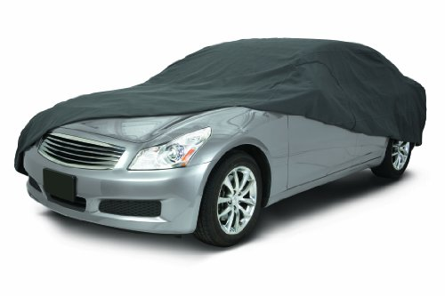 Classic Accessories 10-013-251001-00 OverDrive PolyPro 3 Heavy Duty Mid Size Sedan Car Cover,Charcoal,Sedans 176' - 190' L