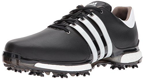adidas Men's TOUR 360 2.0 Golf Shoe, Core Black/White, 9 M US