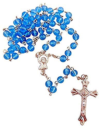 Westman Works Blue Rosaries Bulk Lot for Students or Church Groups Rosary Set, Pack of 10