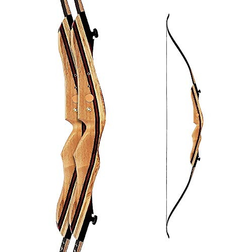 LC Recurve Bow Martin Saber recurve Takedown rchery 62' Takedown Hunting 30-35Lbs Wood Limb with Fiberglass Face Right Hand