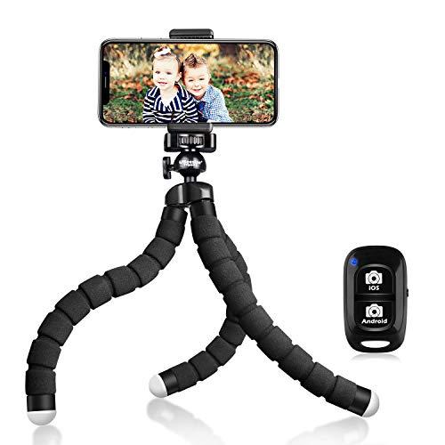 UBeesize Tripod S, Premium Flexible Phone Tripod with Wireless Remote, Mini Tripod Stand for Cameras/GoPros/Mobile Devices