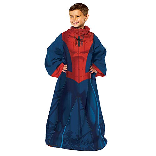 Marvel Comfy Throw Blanket with Sleeves, Youth-48 x 48 Inches, Spider man