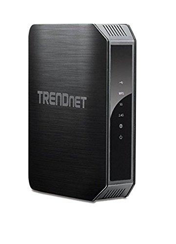 TRENDnet AC1200 Dual Band High-power Gigabit Wireless AC Router, 2.4GHz 300Mbps+5Ghz 867Mbps, TEW-813DRU