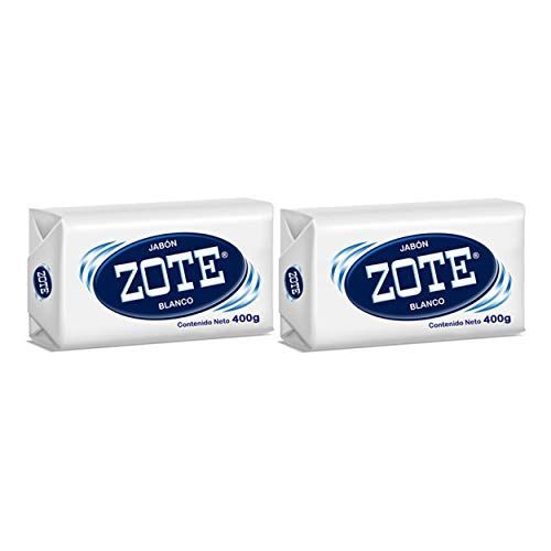 Zote Laundry Soap Bar, Stain Remover Laundry Detergent for Clothes, Catfish Bait, Super Washing Travel Jabon Para Lavar Ropa, White Underwear Clothes Washing Soap (400 grams), Pack of 2