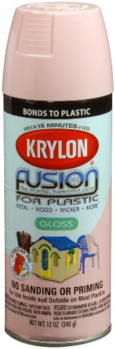 Krylon K02331007 Fusion for Plastic Spray Paint, Fairytale Pink