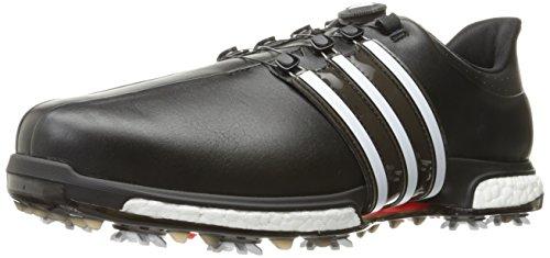 adidas Men's TOUR360 BOA Boost Golf Shoe, Core Black/FTWR White/Power Red, 15 Medium US