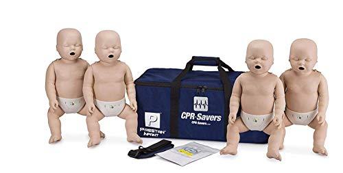CPR Savers Prestan Professional Infant CPR Training Manikin with 2019 AHA Feedback Monitor, Medium Skin, 4-Pack, PP-IM-400M-MS