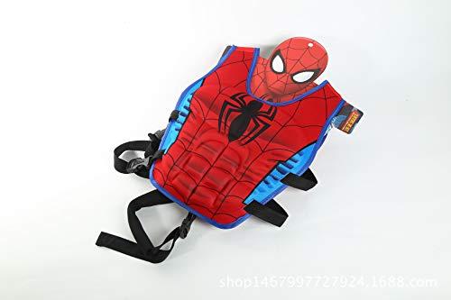 JKSPORTS Life Jacket Learn-to-Swim Buoyancy Aid Vest Children Float Vest Kids Swimming Training Jacket Learn to Swim for Boys Girls Begin to Swim 3D Cartoon Swim Vest (Spiderman, Large)