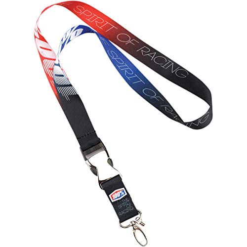 100% Adult Lanyards - Black/Red/One Size