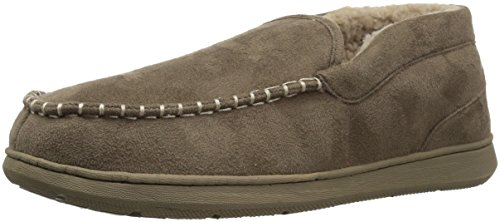 Dockers Men's Craig Ultra-Light Mid Moccasin Premium Slippers, Taupe, 11 M US