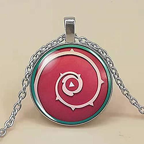 Animax Steven Universe Shield Cabochon Mens 1pcslot Handmade Fashion Necklace Silver Pendant Steampunk Jewelry Women Chain