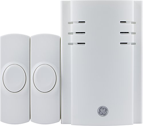 GE Wireless Door Chime with 2 Push Buttons (2 pack), 19300