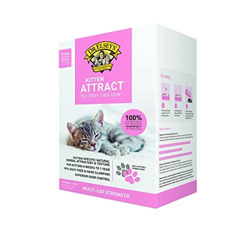 Dr. Elsey's Precious Cat Kitten Attract Kitten Training Litter, Kitten Attract Litter 20lb Bo, 20 lb