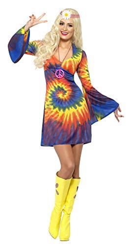 Smiffys Women's M-US Size 10-12 1960s Tie Dye Costume, Psychedelic