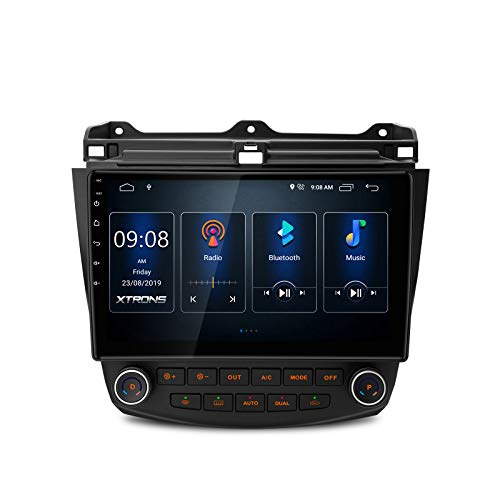 XTRONS Android 10.0 Car Stereo Radio Player 10.1 Inch IPS Touch Screen GPS Navigation Built-in DSP Bluetooth Head Unit Supports Full RCA Output Backup Camera WiFi OBD2 DVR TPMS for Honda Accord