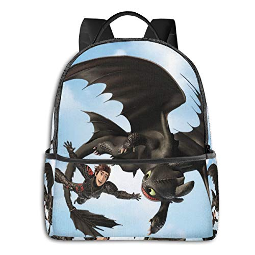 How to Train Your Dragon Youth Backpack Female School Bag Travel Bag Computer Bag Male School Bag Large Capacity