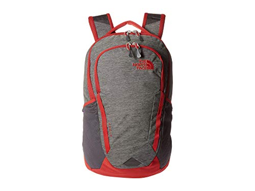 The North Face Vault Backpack Tnf Dark Grey Heather/Cardinal Red One Size