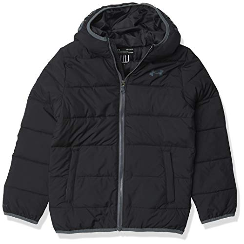 Under Armour Boys' UA Pronto Puffer Jacket, Black, 4
