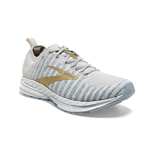 Brooks Womens Bedlam 2 Running Shoe - White/Grey/Gold - B - 8.5