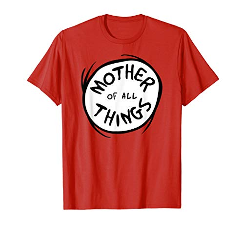 Dr. Seuss Mother of all Things Emblem RED T-shirt