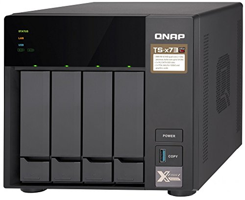QNAP TS-473-4G 8 Bay NAS with AMD R-Series Quad-core 2.1GHz, and Four 1GbE Ports