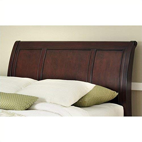 Home Styles Lafayette Queen/Full Sleigh Headboard, Rich Cherry Finish Crafted from Mahogany Solids with Cherry Veneers